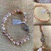 Bracciale con Perle Coltivate e farfalla  Argento925