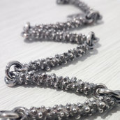 Bracciale in argento brunito 925 fatto a mano B17