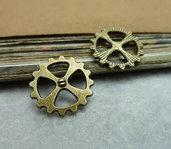 10 charms ruota ingranaggio 14mm bronzo