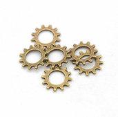 20 charms ruota ingranaggio 12mm bronzo