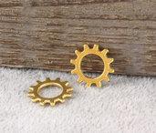 20 charms ruota ingranaggio 12mm oro