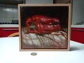 Quadro, dipinto originale natura morta olio su tavola