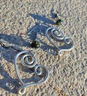 Orecchini  in wire argentato Cuore ❤️
