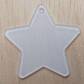 Sagoma STELLA tipo 2 in plexiglass trasparente spessore 2 mm