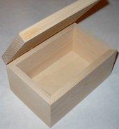 Scatola in legno da decorare cm 7x14x9