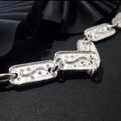 Bracciale in argento 925 fatto a mano B41