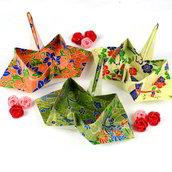 Set di 10 contenitori origami a forma di gru