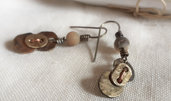 Orecchini ovali in bronzo