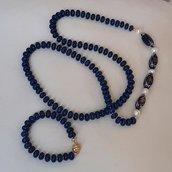 collana lunga blu