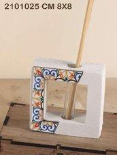 Profumatore maioliche polvere di marmo 8x8