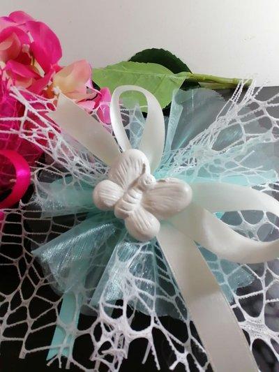 Animaletti : fiore, farfalla, rana , uccellino, serpente , paperino ,riccio in polvere ceramica su rete