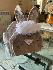 Portatovaglioli pasquale a forma di coniglio
