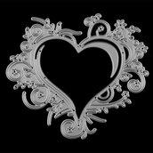 fustella cuore decorazione per creazioni fai da te scrapbooking partecipazioni inviti