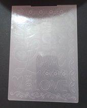 fustella decorativa amore love per embossing creazioni fai da te scrapbooking inviti biglietti di auguri