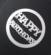 fustella rotonda happy birthday per creazioni fai da te scrapbooking decorazioni