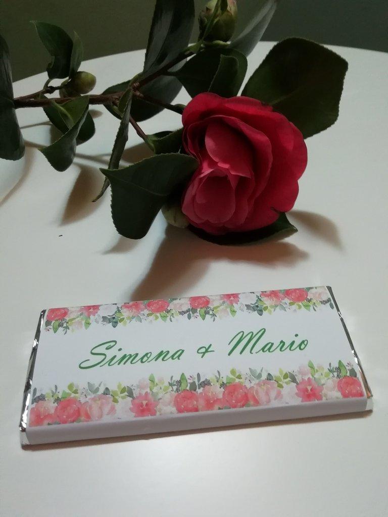 Partecipazione di nozze barretta cioccolato
