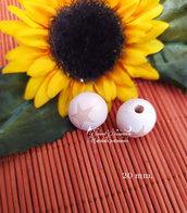 Perla in legno naturale con stampa stellina
