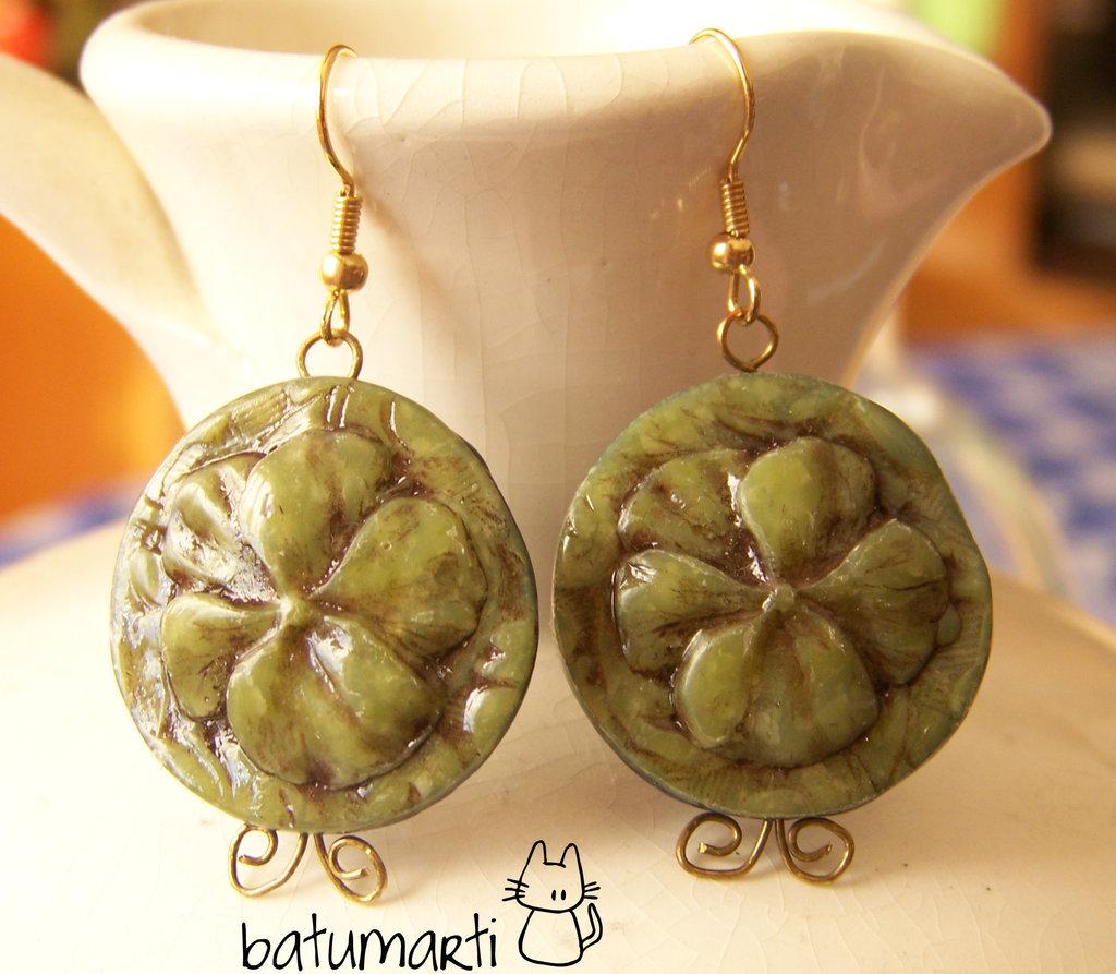 Orecchini falsa giada - Faux jade earrings