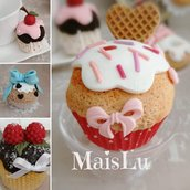 Cupcakes e Muffin decorativi, espositivi in pasta di mais
