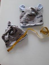 Berretto neonato in cotone fatto a mano