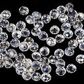 50 perle rondelle cristallo 6x5mm trasparenti