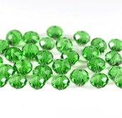 60 perle rondelle cristallo 6x5mm verde