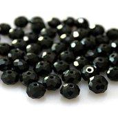 50 perle rondelle cristallo 6x5mm nere
