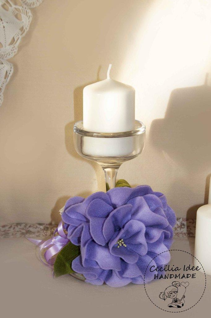 Porta candele decorato
