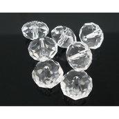 30 perle rondelle cristallo 8x6mm trasparenti