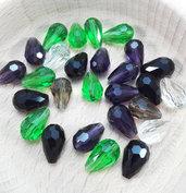 Lotto misto perle a goccia cristallo