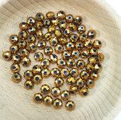 80 perle rondelle cristallo 6x5mm oro