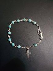 Braccialetto decina rosario in turchese