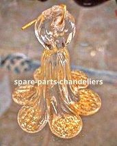 Fiore pendente in cristallo oro 24kt, 7 cm