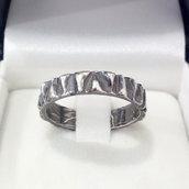 Anello fede/fedina in argento brunito 925 fatto a mano AB171