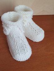 Scarpine stivaletto neonato/neonata in lana merinos