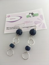 Orecchini pendenti blu con lapislazzuli
