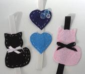 Segnalibri a forma di gattini o di cuore