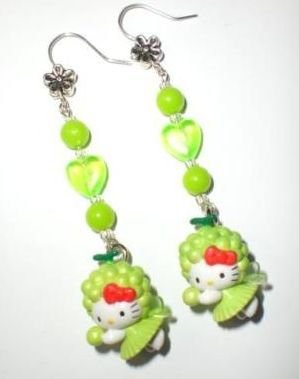 Orecchini Hello Kitty *Fatina Verde*