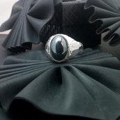 Anello in argento 925 con ematite fatto a mano A111