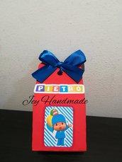 Scatolina Pocoyo festa compleanno nascita battesimo bimbo confetti bomboniera