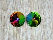 coppia rivoli vetro 14mm arcobaleno vitrail medium