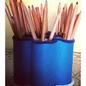 Portapenne/matite cameretta blu