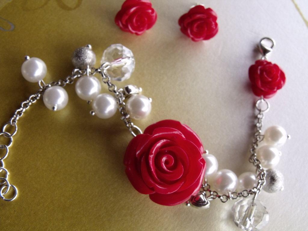 Coordinato rose rosse