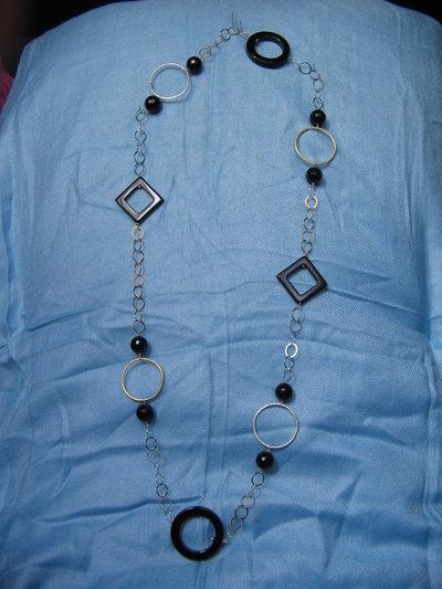 Catena in argento bicolore e pietre