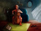 Quadro su tela dipinto a mano - Viola