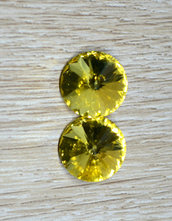 coppia rivoli vetro 14mm giallo chiaro