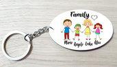 Portachiavi famiglia personalizzato in legno con nomi idea regalo mamma e papà family