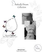 """Bracciale con farfalle modello """"charms"""""""