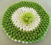 Basco neonato bianco e verde