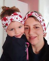 Fascia , fascia capelli, fascetta, fascia copri orecchie, accessori capelli, set, mamma e figlia